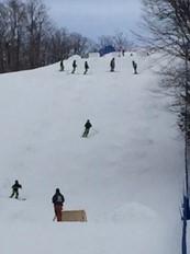 Superbe journée de ski à 10 mn de chez nous au Lac-Beauport