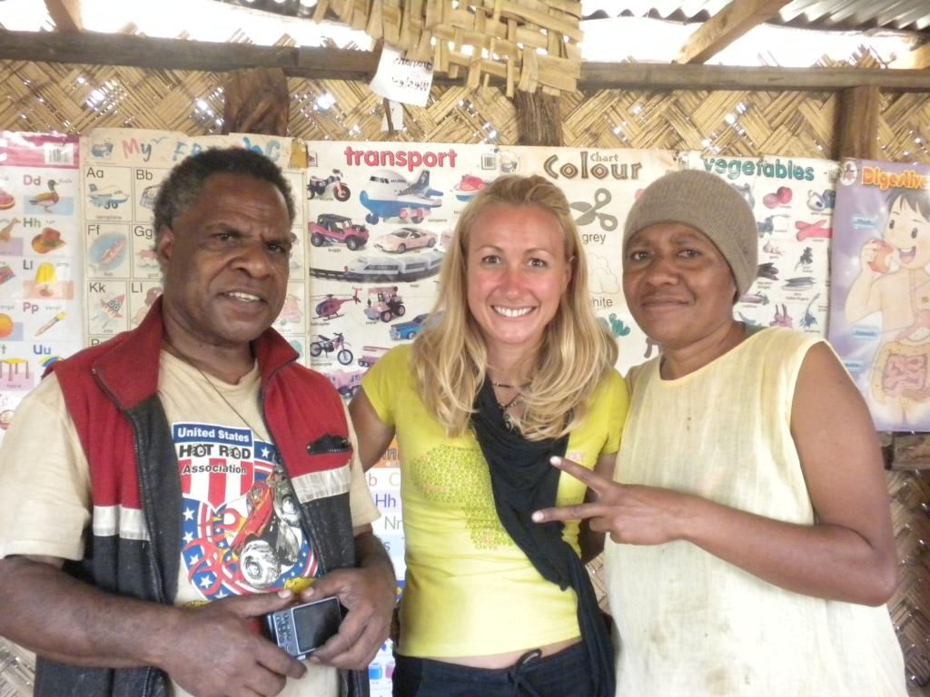 Visit de l'école de WALI, l'école de John à Goroka