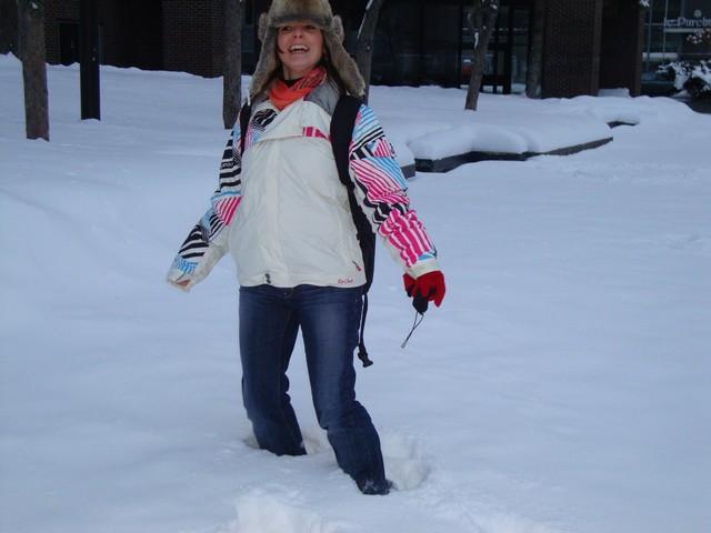 Nos premiers pas dans la neige